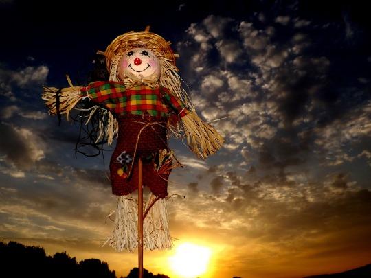 christmas scarecrow
